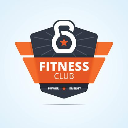 Fitness club emblem.