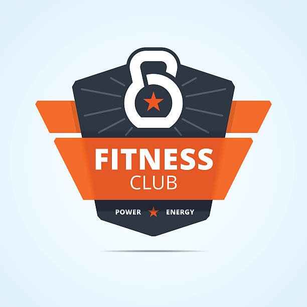 Fitness club emblem. vector art illustration