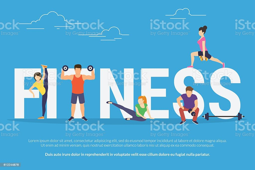 Fitness concept illustration vector art illustration