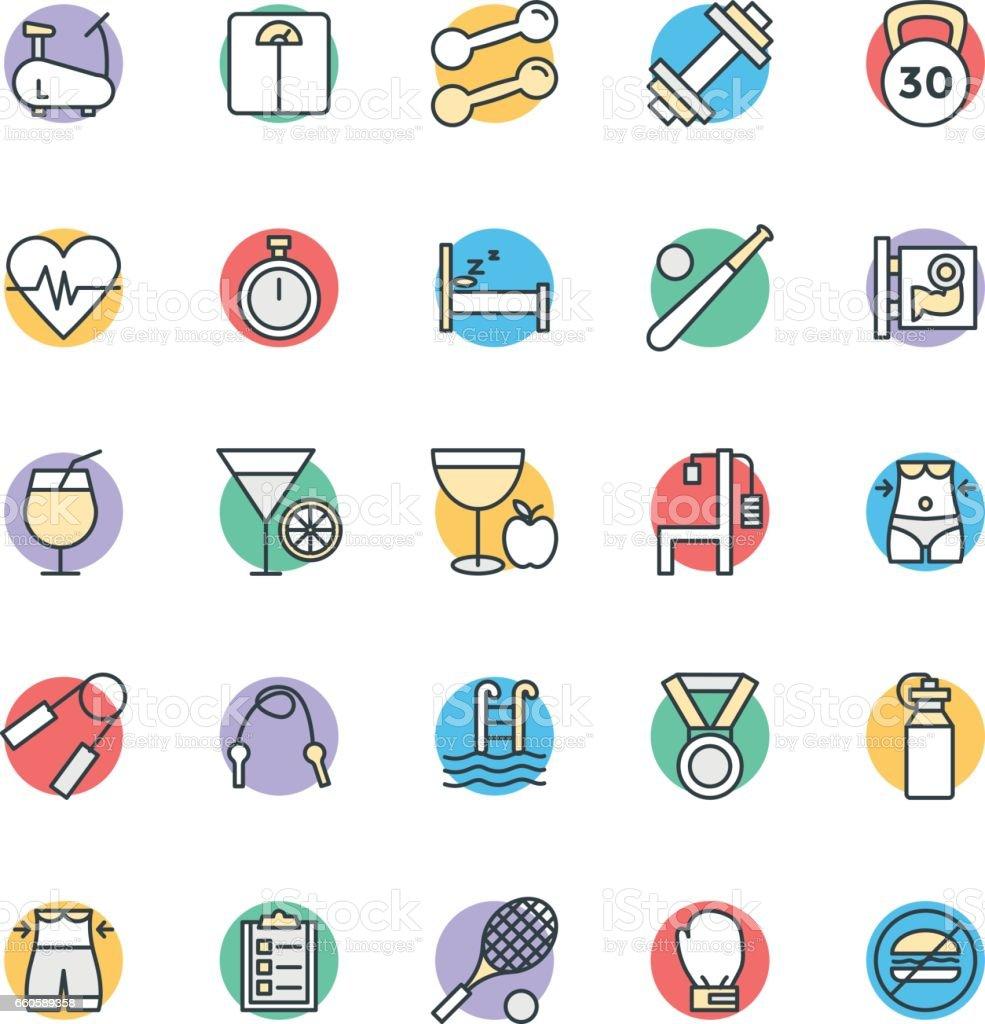 Fitness-Cool Vektor-Icons 1 – Vektorgrafik
