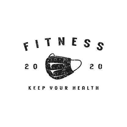 Fitness emblem for t-shirt