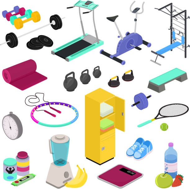 65 421 Gym Equipment Illustrations Royalty Free Vector Graphics Clip Art Istock