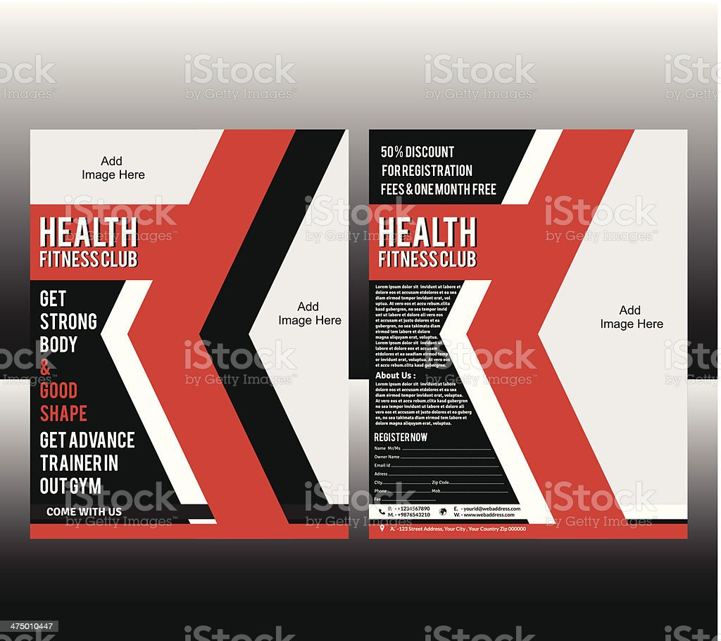 fitness Flyer Template vector art illustration