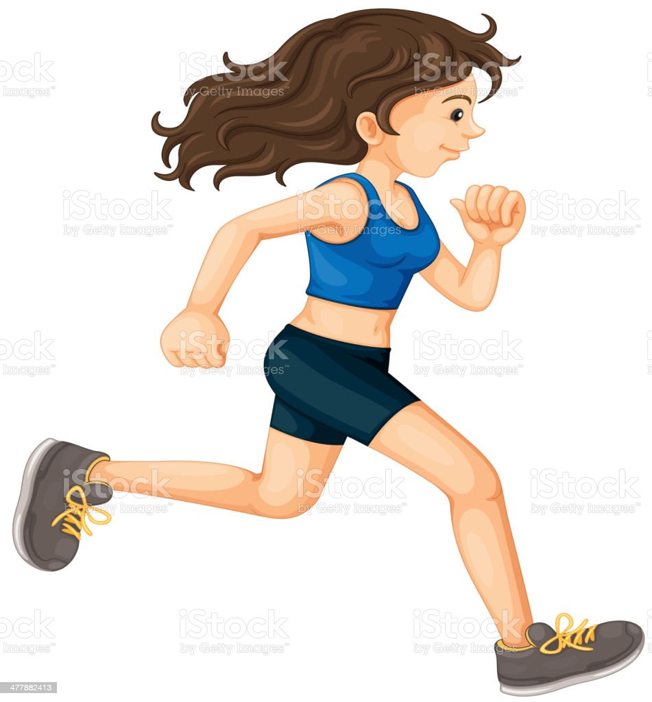 Fitness girl royalty-free fitness girl stock vector art & more images of activity