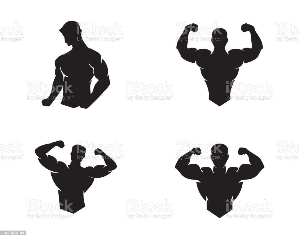 Fitness graphic Design vector art illustration