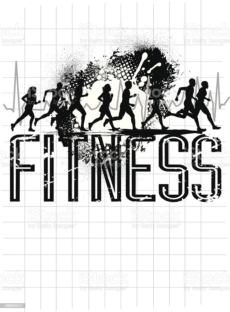 Fitness Graphic - Jogging Club royalty-free fitness graphic jogging club stock vector art & more images of activity