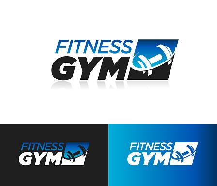Fitness gym design icon
