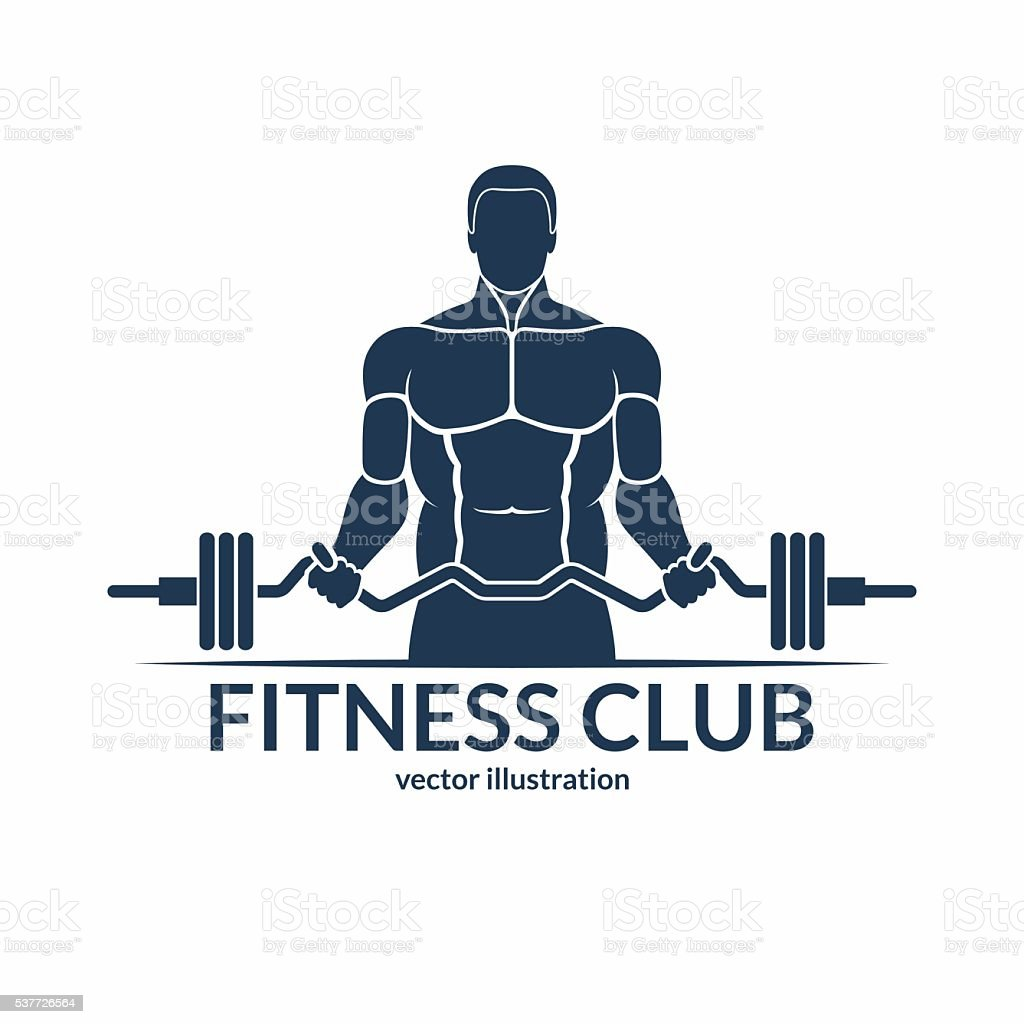 Body Building Exercising Gym Health Club Human Muscle Fitness Logo