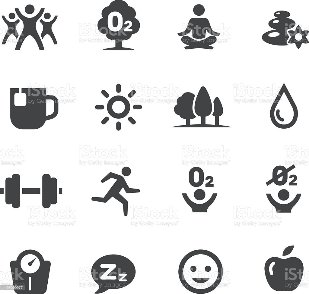 Fitness, Healthy Life Style Icons - Acme Series royalty-free stock vector art