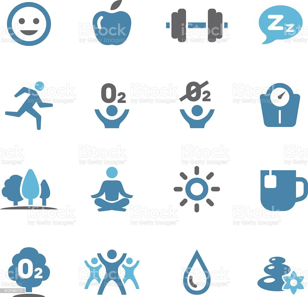 Fitness, Healthy Life Style Icons - Conc Series vector art illustration