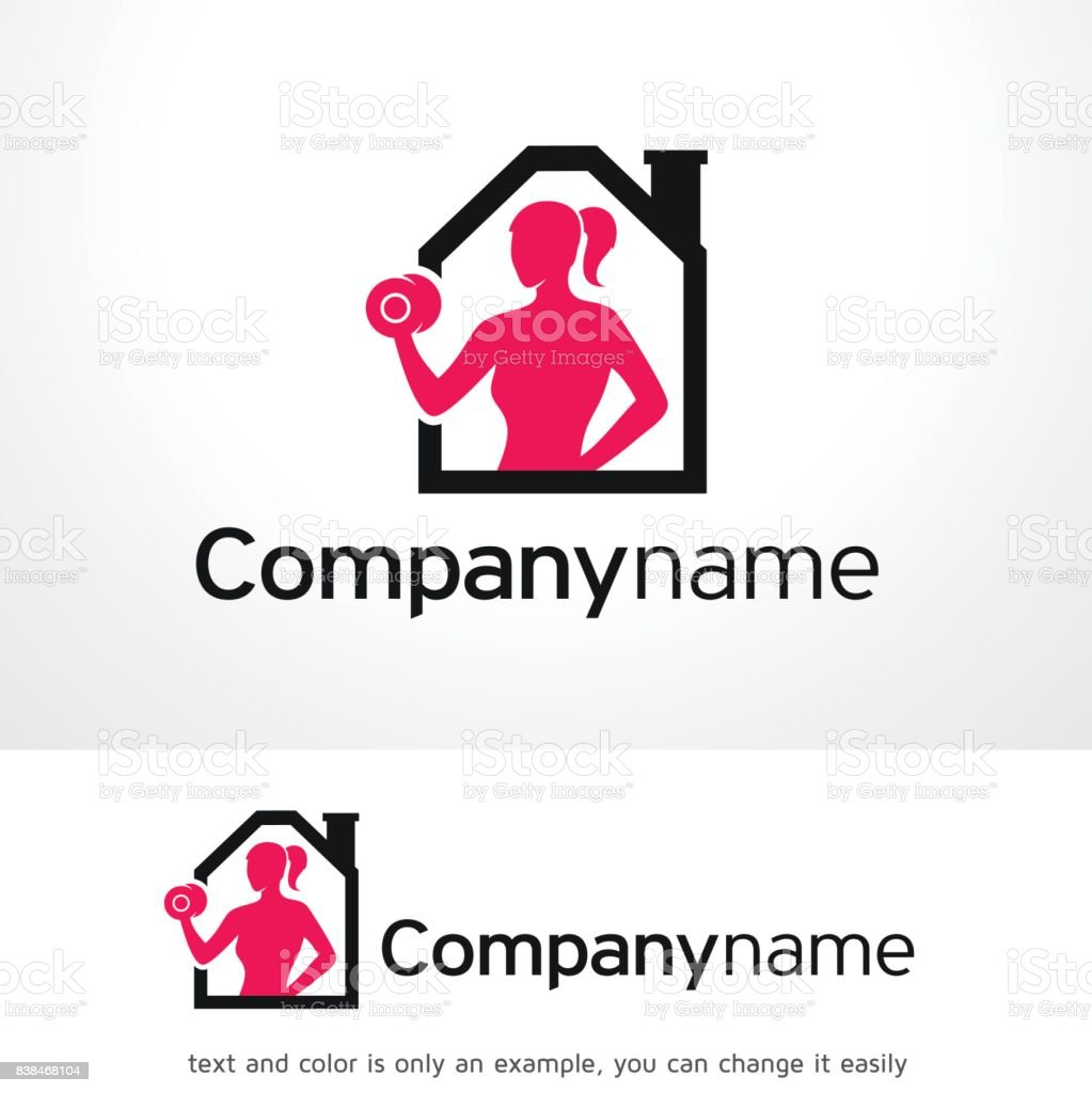 フィットネス ホーム シンボル テンプレート デザイン ベクトル、エンブレム、デザイン コンセプト、創造的なシンボル アイコン ベクターアートイラスト