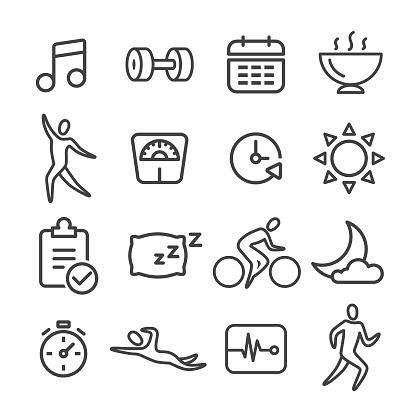 Fitness Icon Set - Line Series