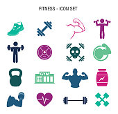 Vector of Fitness Icon Set