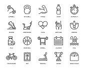 Fitness Icon Set - Thin Line Series