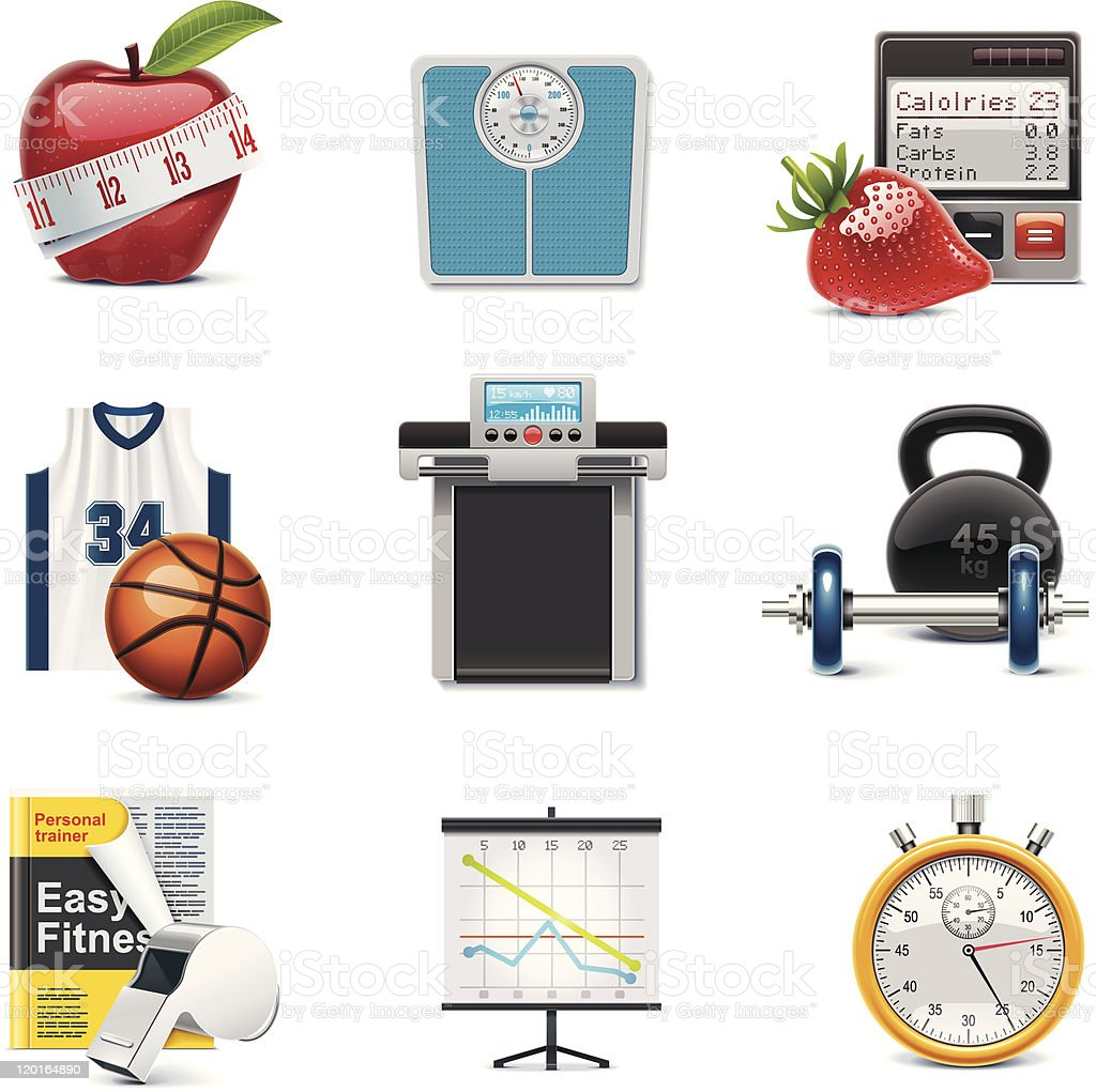 Fitness icon set royalty-free fitness icon set stock vector art & more images of activity