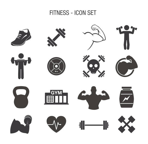 Fitness-Icon-Set – Vektorgrafik