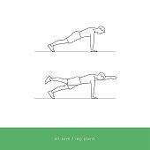 Fitness Icon Workout - alt arm / leg plank