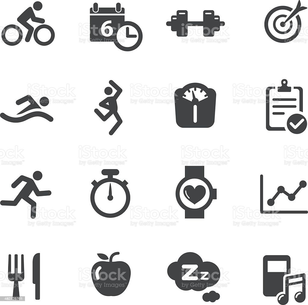 Fitness Icons - Acme Series royalty-free stock vector art
