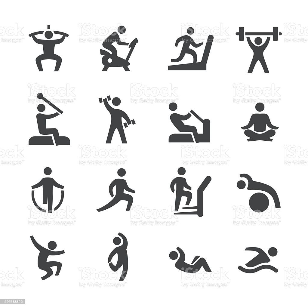 Fitness Icons - Acme Series vector art illustration