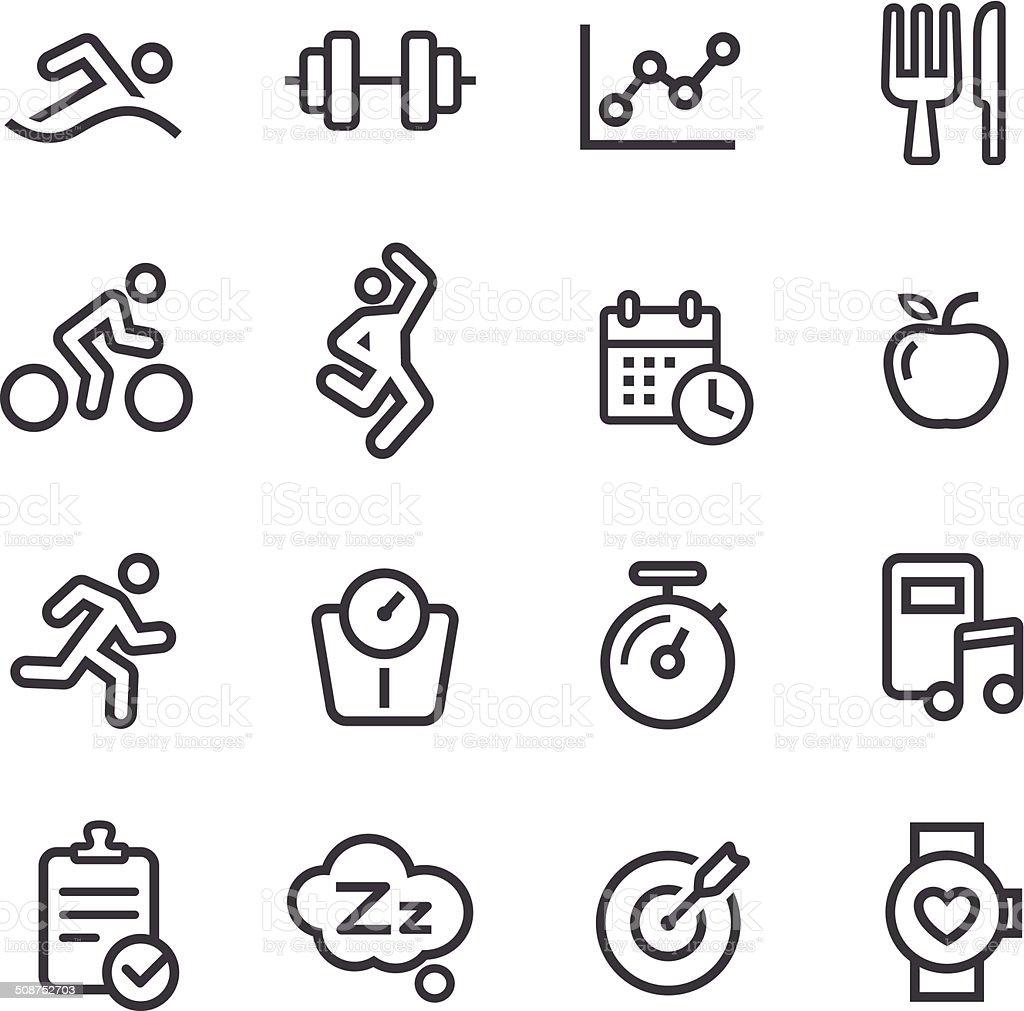 Fitness Icons - Line Series vector art illustration