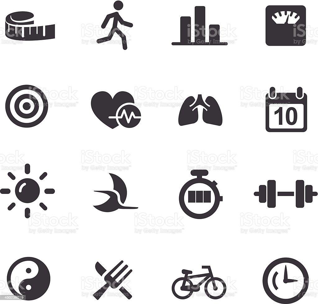 Fitness Icons Set 2 - Acme Series vector art illustration