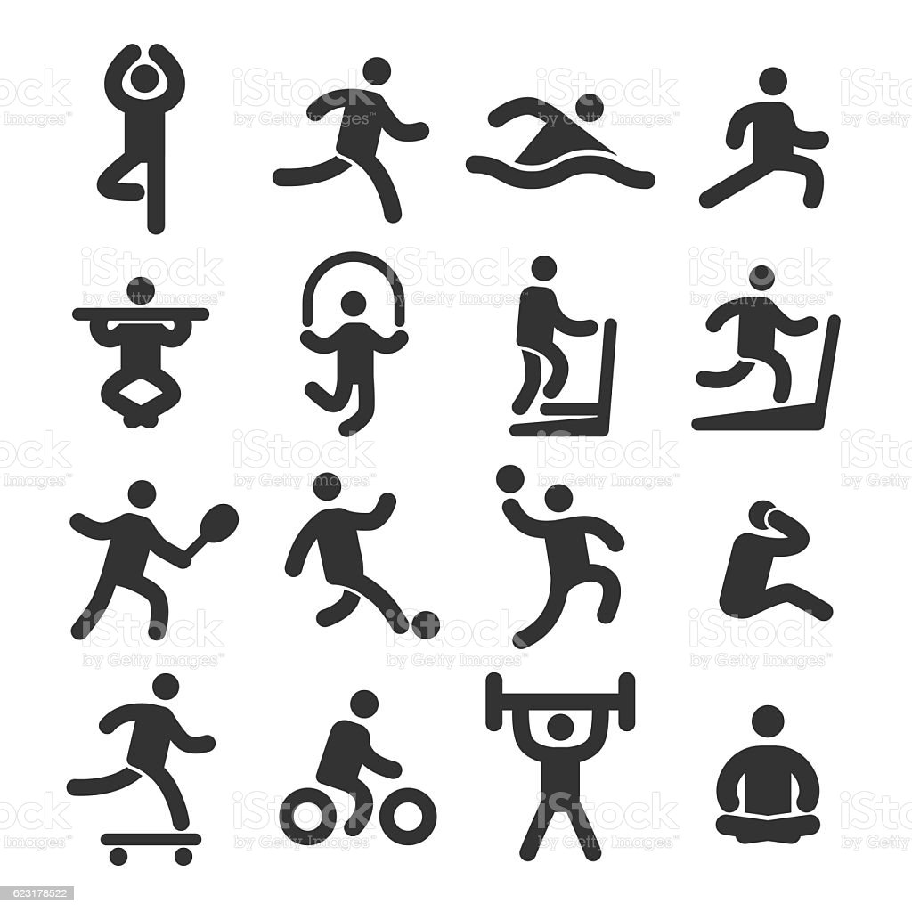 Fitness Icons Set - Acme Series vector art illustration