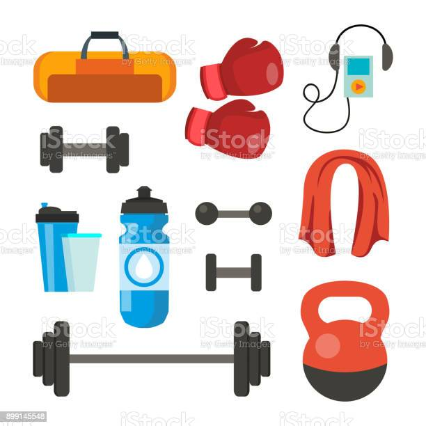 Fitness icons set vector sport tools accessories bag towel weights vector id899145548?b=1&k=6&m=899145548&s=612x612&h= 8tutguw epxaiwe bdewjestbi8uspjksmc 8x9zgy=