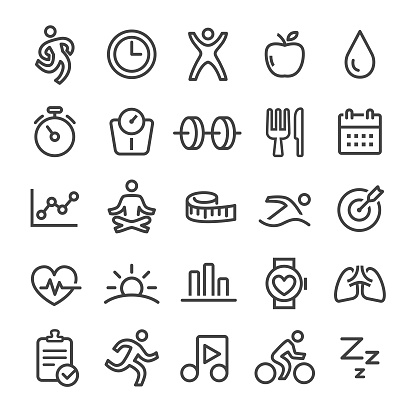 Fitness Icons - Smart Line Series clipart