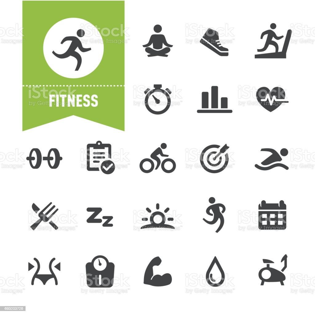 Fitness Icons - Special Series vector art illustration