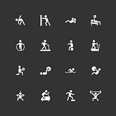 Fitness Icons - Unique - White