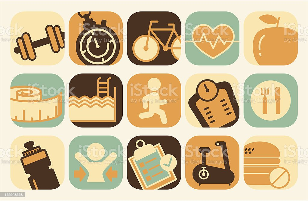 fitness icons royalty-free fitness icons stock vector art & more images of activity