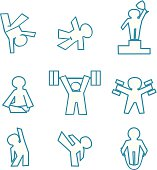 isolated vector icon set of fitness - sports logos