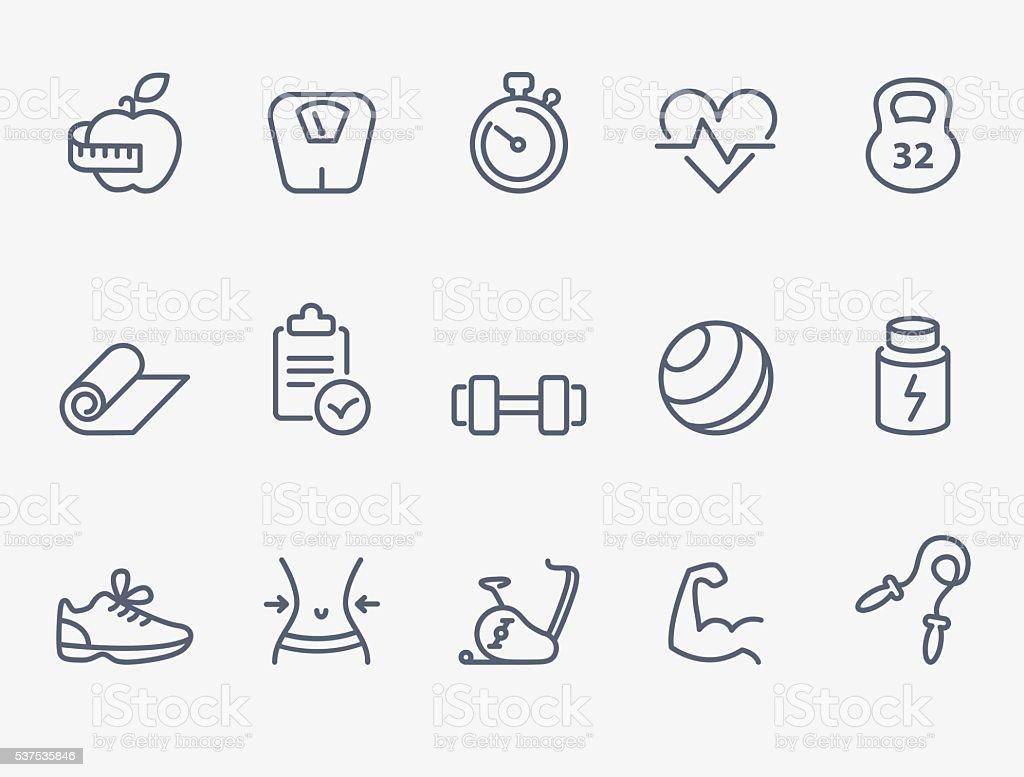 Fitness icons - Royalty-free Afvallen vectorkunst