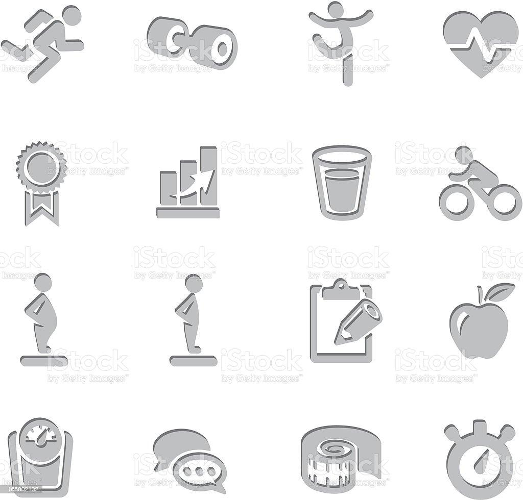 Fitness Imprint Symbols vector art illustration