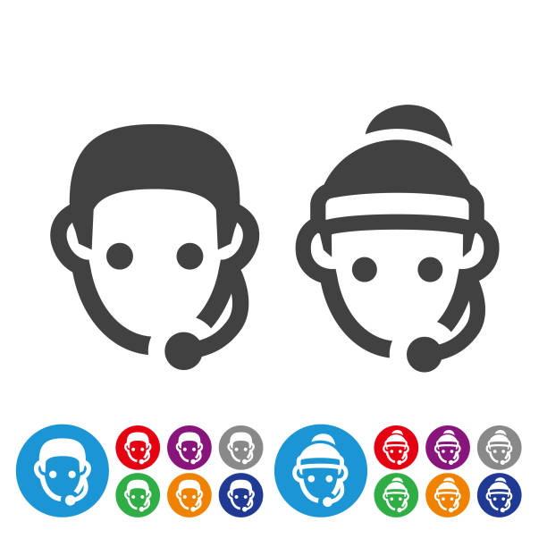 fitness instructor icons - graphic icon series - personal trainer stock illustrations, clip art, cartoons, & icons