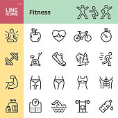 Vector Line icons set. One icon consists of a single object. Files included: Vector EPS 10, HD JPEG 3000 x 3000 px