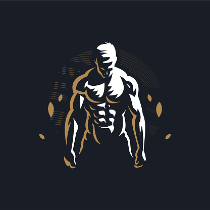 Fitness man with muscles