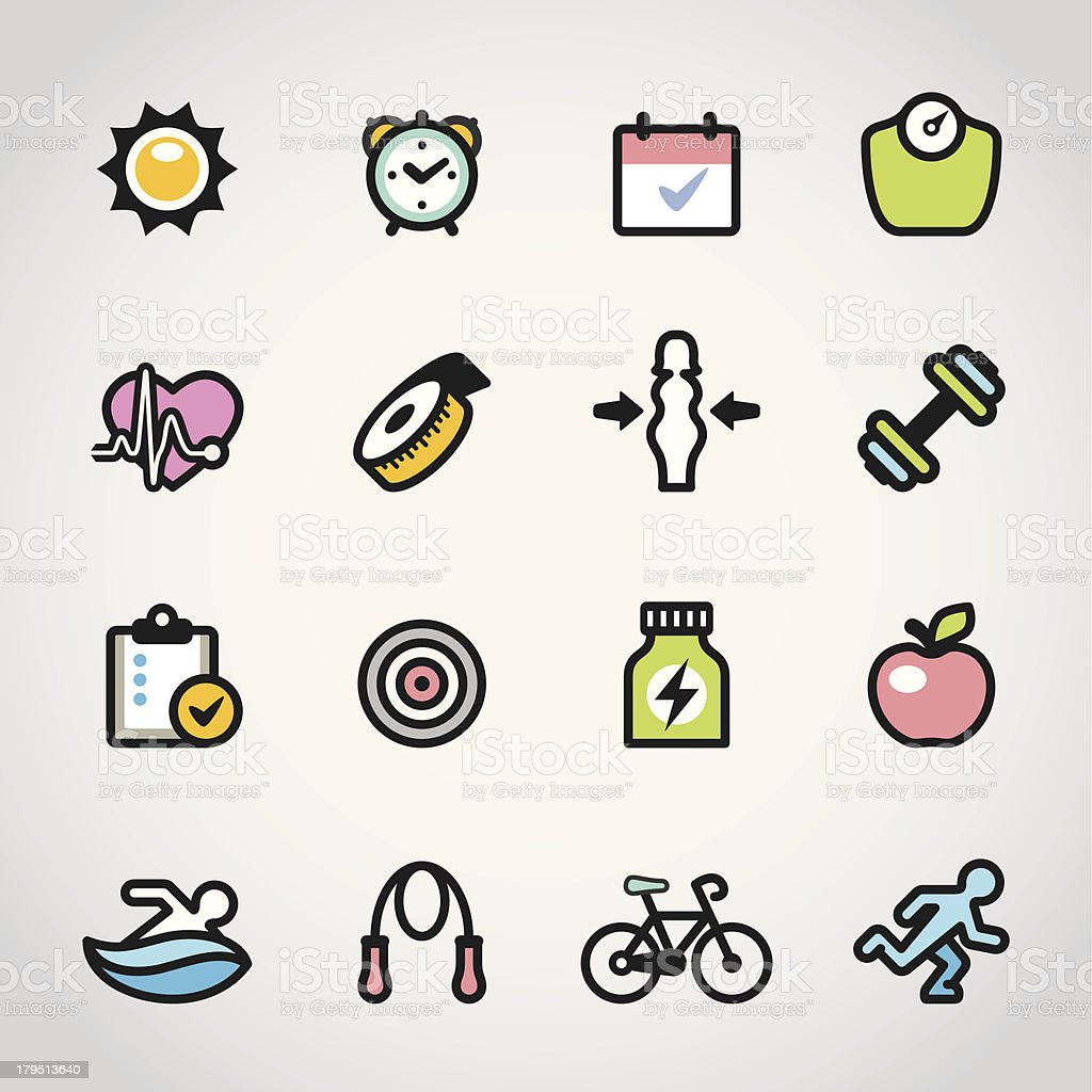 Fitness / Fabrico icons royalty-free stock vector art