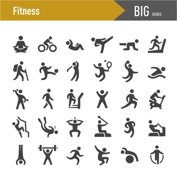 Fitness method Icons - Big Series Fitness method, sports icons stock illustrations