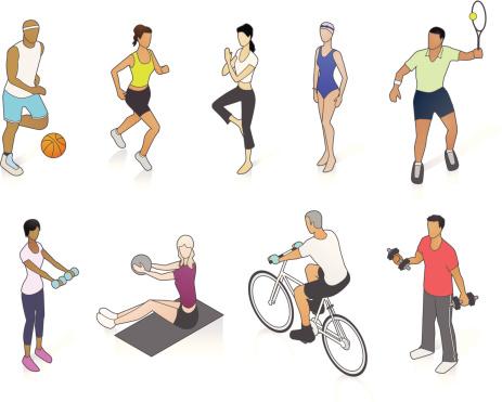 Fitness People Illustration
