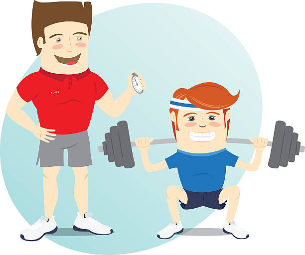 vector trainer personal gym teacher illustrations clip fitness funny illustration graphics similar vectors