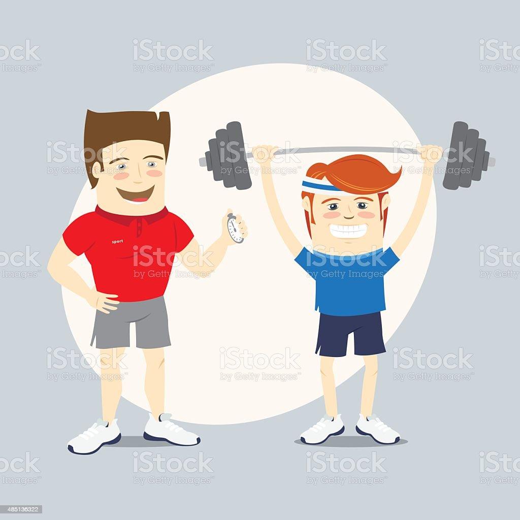 Fitness Entraîneur Particulier Drôle Sport Et De ...
