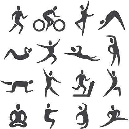 Fitness Posture Icons - Acme Series
