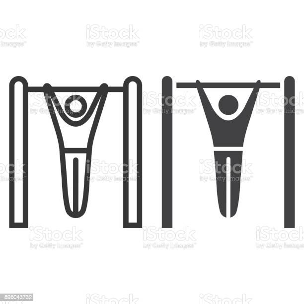 Fitness pull up line and glyph icon fitness and sport workout sign vector id898043732?b=1&k=6&m=898043732&s=612x612&h=6lxg3nmkimbnnoievokkni2tucvowf1z1enn7iegxlu=