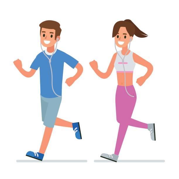 stockillustraties, clipart, cartoons en iconen met fitness uitgevoerd - sportkleding