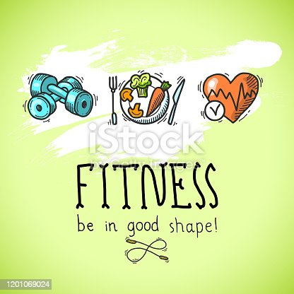 istock fitness sketch poster 2 1201069024