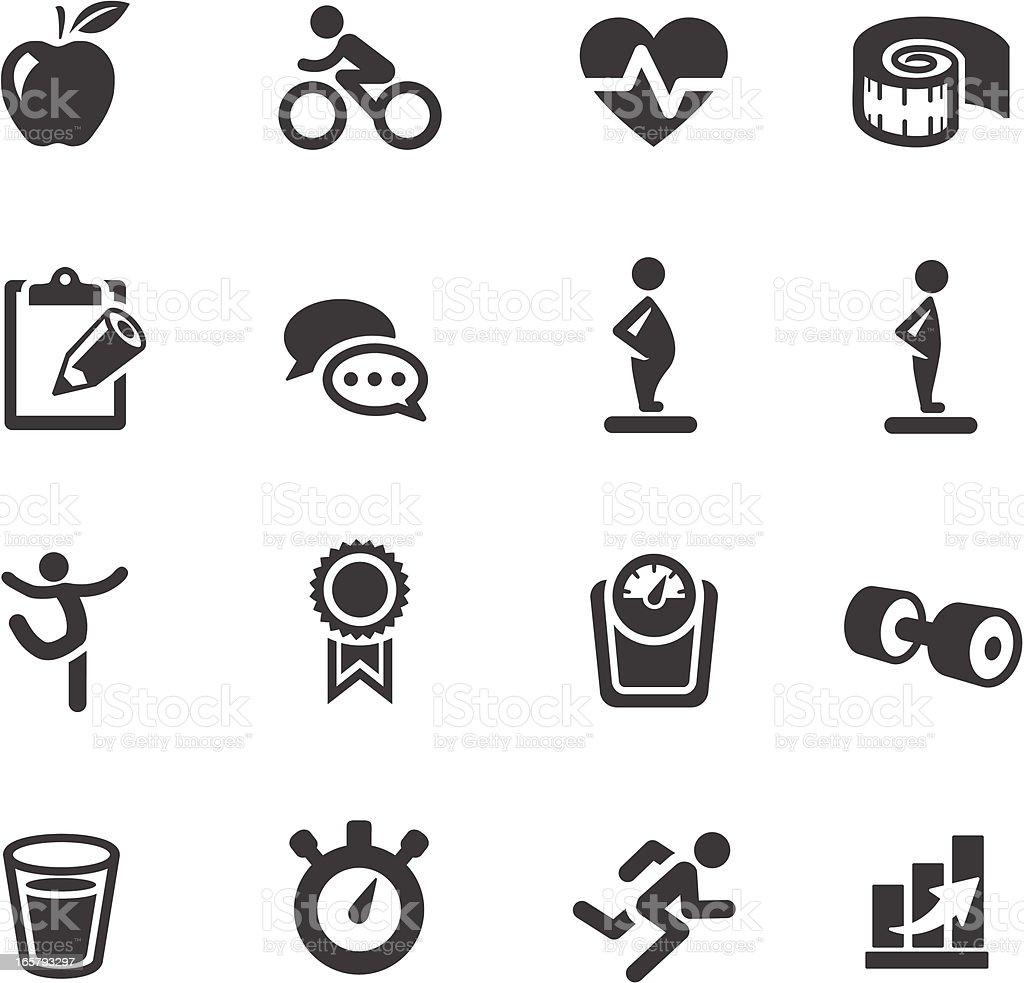 Fitness Symbols vector art illustration