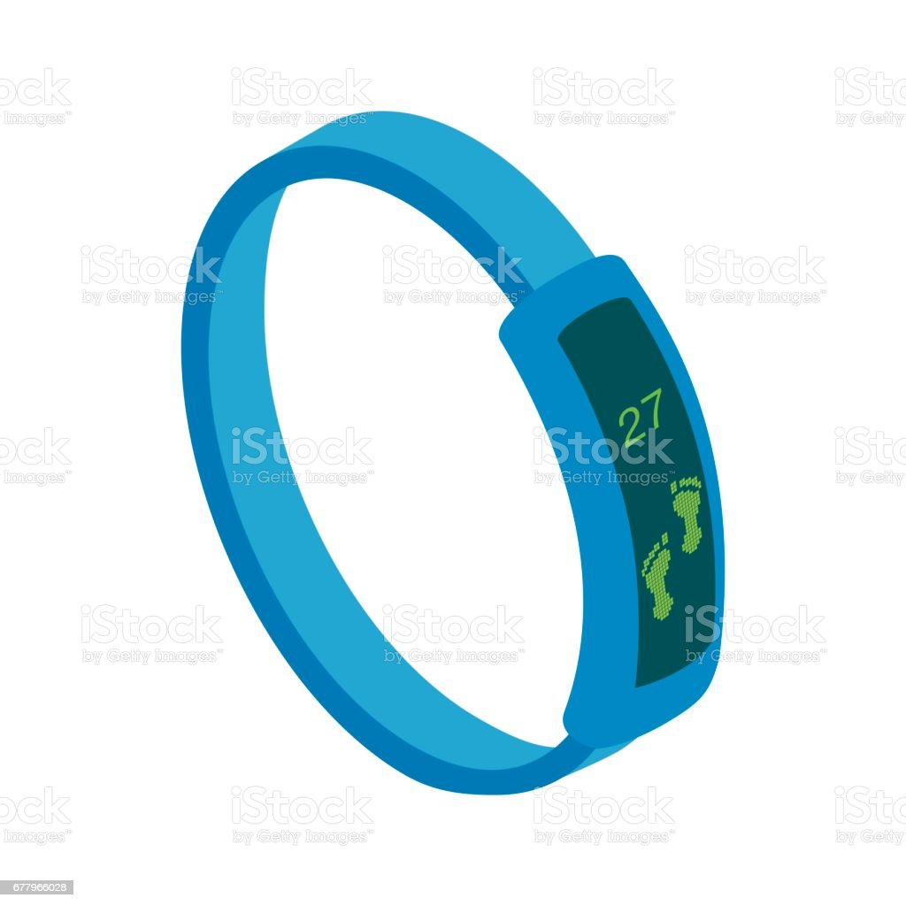 Fitness tracker icon, isometric 3d style royalty-free fitness tracker icon isometric 3d style stock vector art & more images of balance