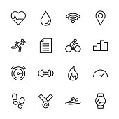 Fitness Tracker Icon Line Series Vector EPS File.