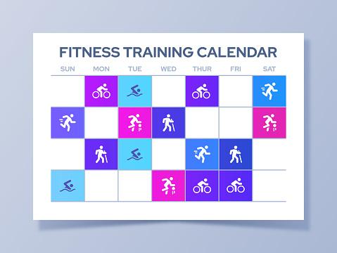 Fitness Training Exercise Calendar